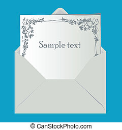 Paper envelope isolated with sample text, vector illustration