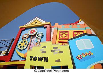 家, 建築, カラフルである