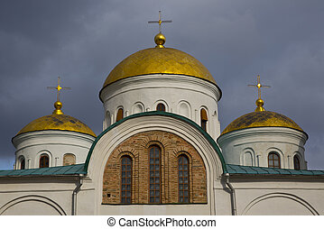 Transfiguration Cathedral - This fragment of the upper part...