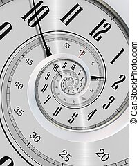 Spinning Clock Never Ending Time Concept Illustration Modern...