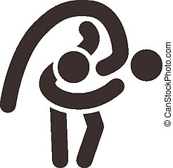 wrestling freestyle icon - Summer sports icons - wrestling...