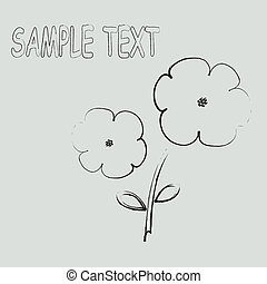 Sample text flowers card