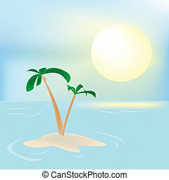 Summer celebration card, vector illustration