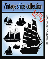 Vintage ship collection