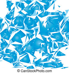 Broken mirror background, isolated vector