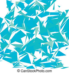 Broken glass pieces on white background, vector