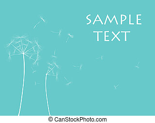 Dandelion illustration, vector art