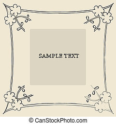 Floral frame sample text card