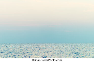 blue sea and sky background