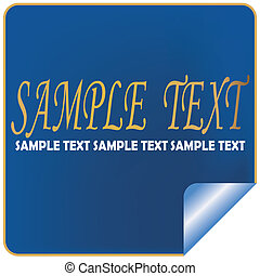 Sample text label