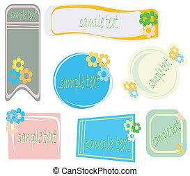 Stickers with flowers