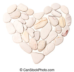 heart stone isolated on white background