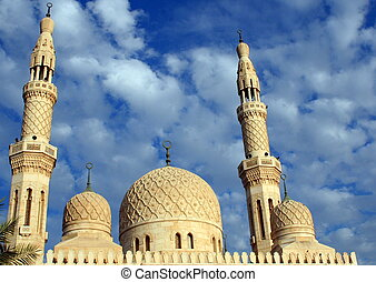 Mosque - One of the magnificent Mosques in the UAE, Dubai.
