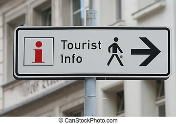 Tourist Information - Direction indicator for Tourist...