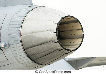 Jet Engine Interior - Thailand F16 aircraft of the Air Force