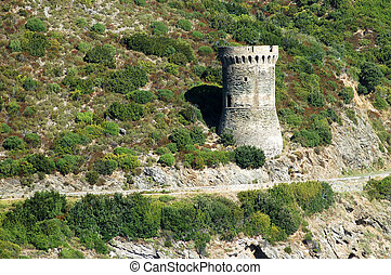 Genoese tower in Corsica LOsse defense tower
