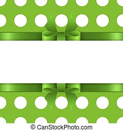 Background with green bow