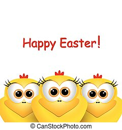 Funny Easter chicks