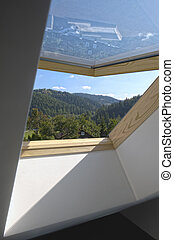 New open sunroof with view to the hills