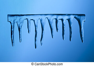 icicles on blue background