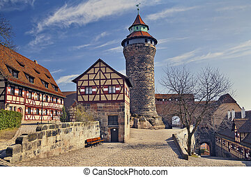 Nuremberg Castle. - Image of the Nuremberg Castle in...