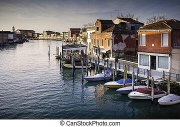 Murano - Canale degli Angeli - Cityscape of the famous...