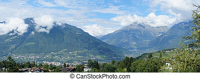 Mountain scenery in the Meran Country