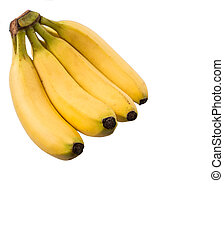 Banana Fruit - Banana fruit over white background