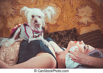 beauty - Beauty salon. The patient came with his favorite...