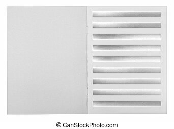 musical notes - Sheets for musical notes on white...