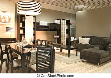 dining room - Elegnat dining room black colors. Coffe table...
