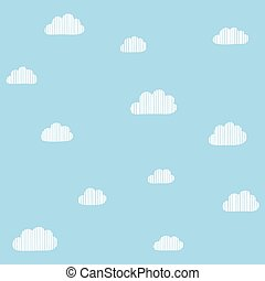 Cloudscape seamless background.