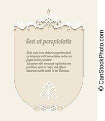 Paper ornamental frame - Vector vintage paper ornamental...