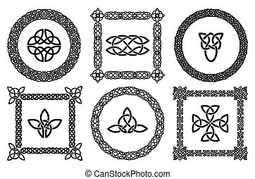 Celtic knots frames - Black set of celtic knots frames....