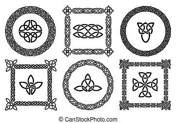 Celtic knots frames - Black set of celtic knots frames....