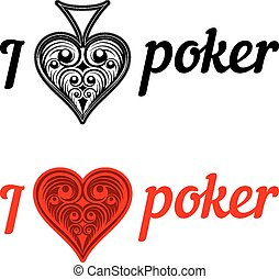 I love poker badges