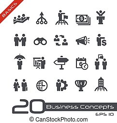 Business Concepts Icon Set -- Basic - Vector icons for web,...