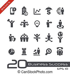 Business Icon Set -- Basics - Vector icons for web, mobile...