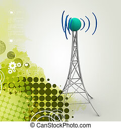 Signal tower with networking