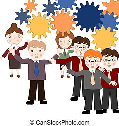 Business people think about business development, the power of t