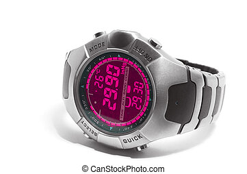 Digital watch - Electronic watch with thermometer and...