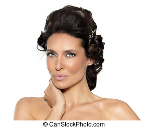 Beautiful Woman - Beautiful woman with haircurlers.