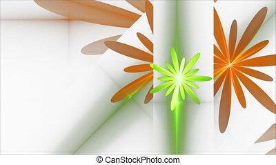Spring, Floral Background, Orange a