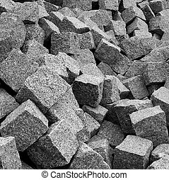 stack of granite pavement