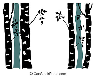 birch - silhouette of birch