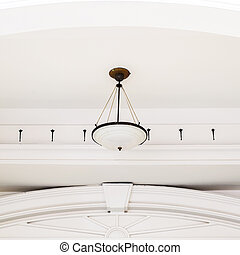 Antique ceiling lamps in modern thailand architecture