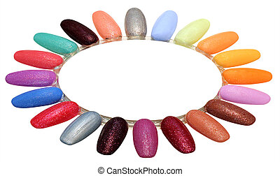 Nails polish gel - Colorful Nails polish palette isolated on...