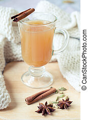 Warming spicy apple drink