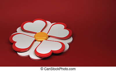 Camomile.  - Beautiful camomile on a red background.