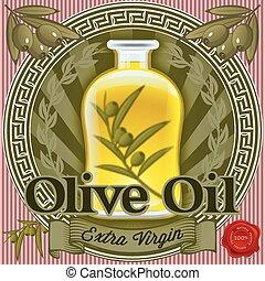 set of elements for design for olive oil